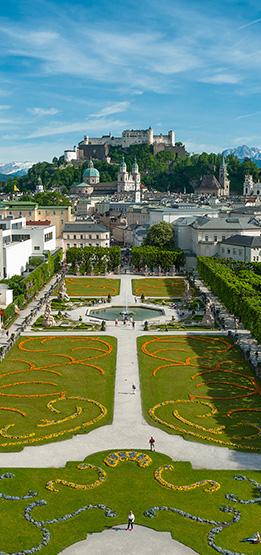 Besuchen Sie Salzburg und den Mirabellgarten in Ihrem Sommerurlaub in Österreich