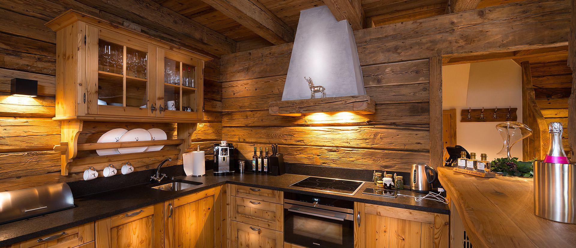 Nutzen Sie die große Küche in Ihrem Luxus-Chalet in Österreich